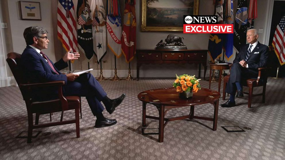 How long did Biden just say that American troops will stay in Afghanistan?