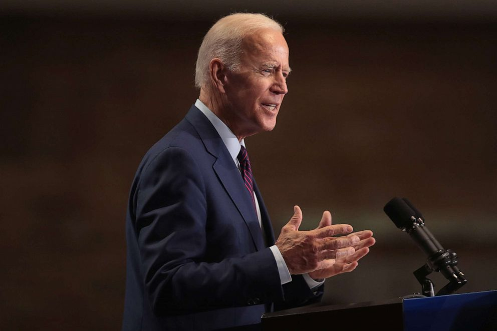 PHOTO:Democratic presidential candidate, former Vice President Joe Biden speaks to guests on June 28, 2019, in Chicago.