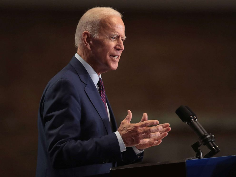 PHOTO: Democratic presidential candidate, former Vice President Joe Biden speaks to guests at the Rainbow PUSH Coalition Annual International Convention, June 28, 2019, in Chicago.