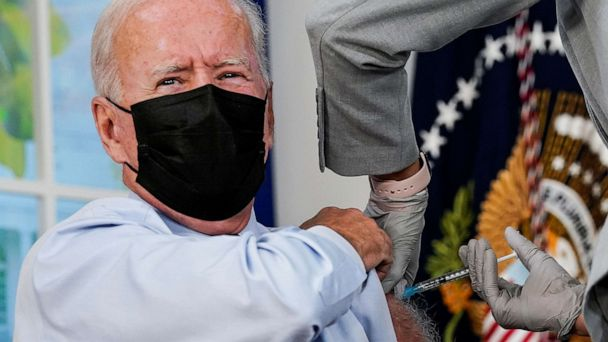 Biden gets COVID-19 booster shot before cameras, pushes vaccinations - 6abc Philadelphia