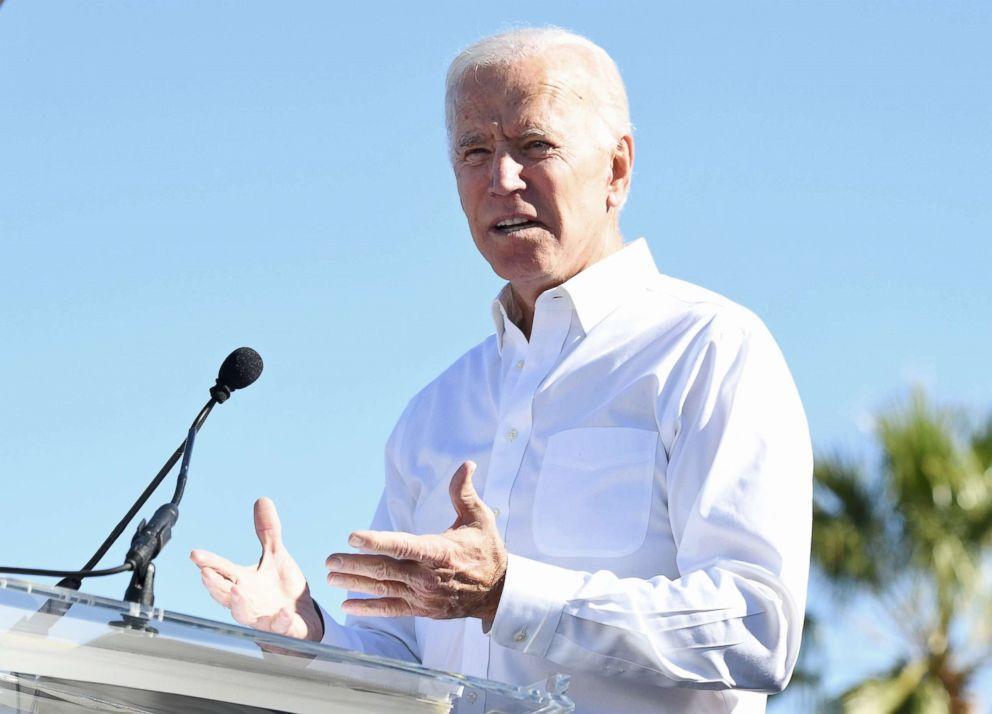 Joe Biden speaks at a rally in Las Vegas, Oct. 20, 2018.