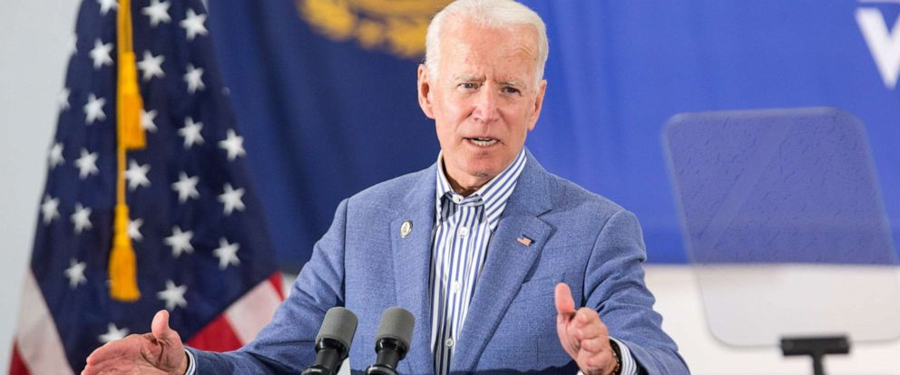 PHOTO: Democratic presidential candidate Joe Biden holds a campaign event on June 4, 2019, in Concord, N.H.