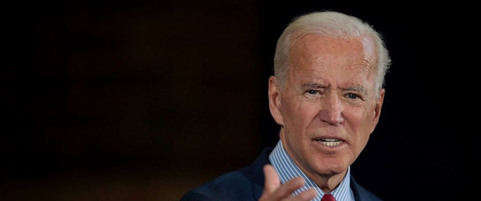 PHOTO:Democratic Presidential candidate former vice president Joe Biden speaks to guests during a campaign stop, Oct. 16, 2019 in Davenport, Iowa.