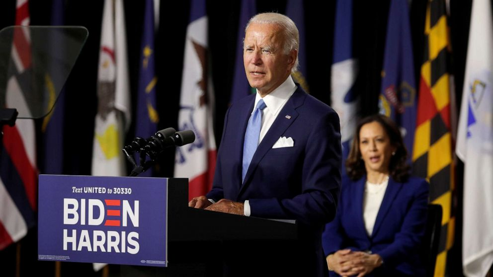 Biden And Harris Make 1st Appearance As Historic Democratic Ticket Abc News