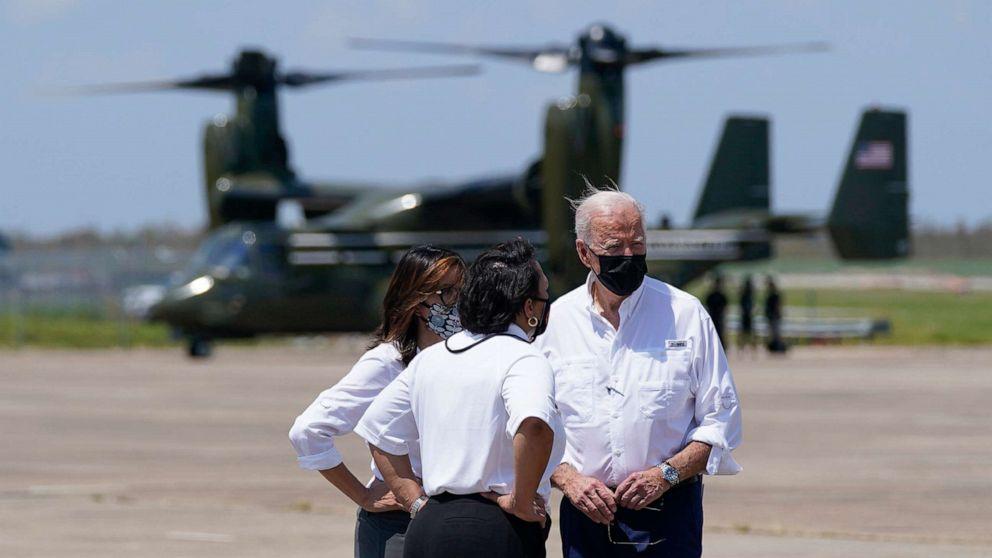 Biden Surveys Damage Caused by Hurricane Ida in New Orleans