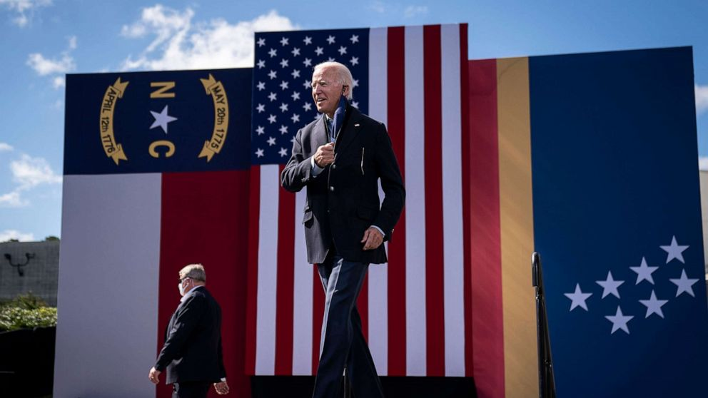 It's all tied up in North Carolina between Trump and Biden, poll finds