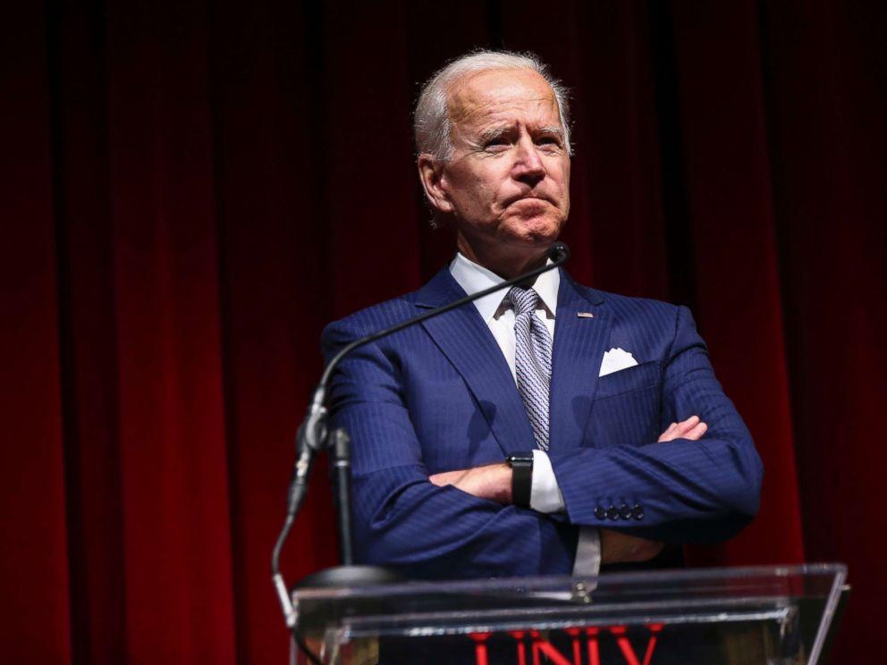 PHOTO: Former Vice President Joe Biden speaks during the UNLV William S. Boyd School of Law 20th Anniversary Gala in Las Vegas, Dec. 1, 2018.