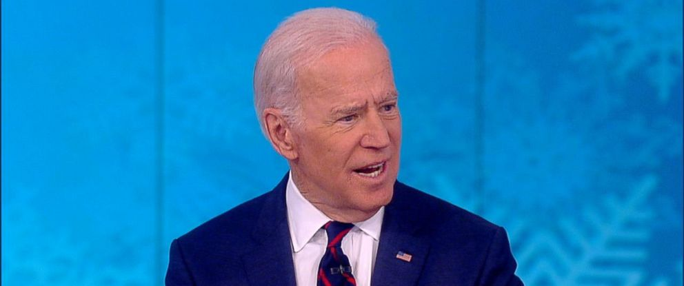 "PHOTO: Former Vice President Joe Biden appears on ""The View,"" Dec. 13, 2017."