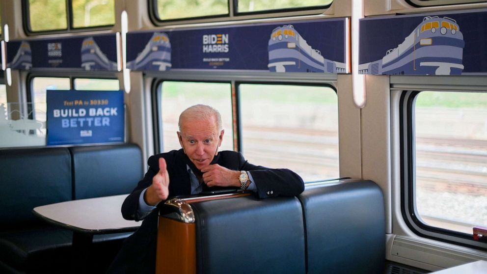 Longtime Amtrak fan Biden to pitch infrastructure at train service anniversary Friday