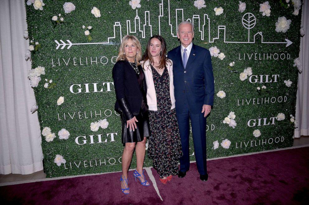 PHOTO: Jill Biden, Ashley Biden and Joe Biden attend Gilt x Livelihood Launch Event, Feb. 7, 2017, in New York.