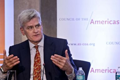PHOTO: Senator Bill Cassidy speaks at the State Department in Washington, on Tuesday, May 7, 2019.