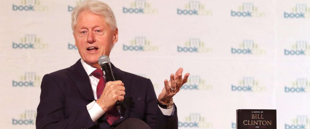 PHOTO: Bill Clinton speaks at Bookcon about his new book he co-wrote with James Patterson, New York, June 4, 2018.