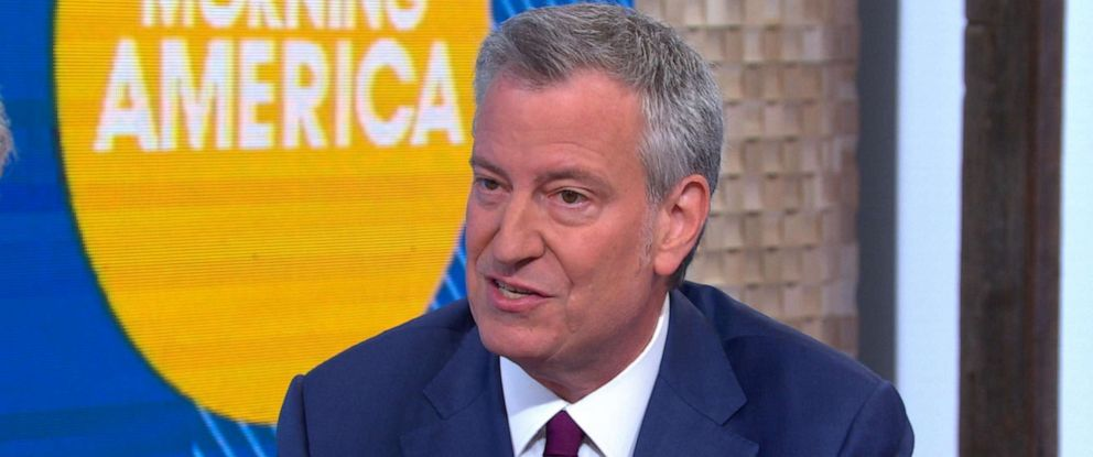"PHOTO: New York City Mayor Bill de Blasio appears on ""Good Morning America,"" May 16, 2019."