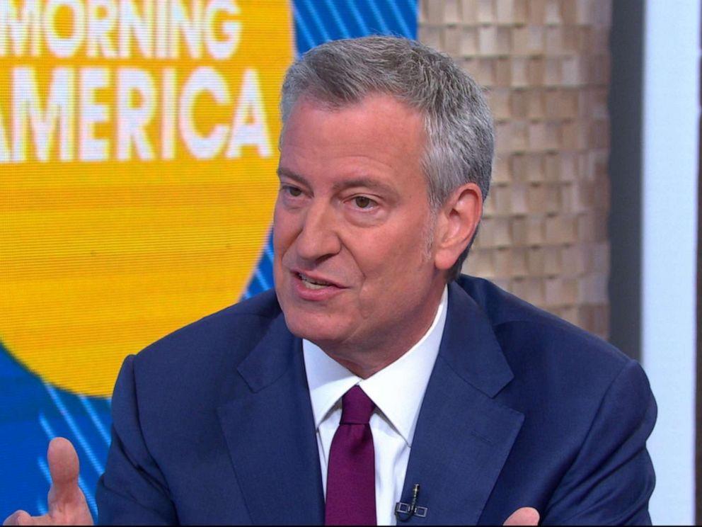 PHOTO: New York City Mayor Bill de Blasio appears on Good Morning America, May 16, 2019.