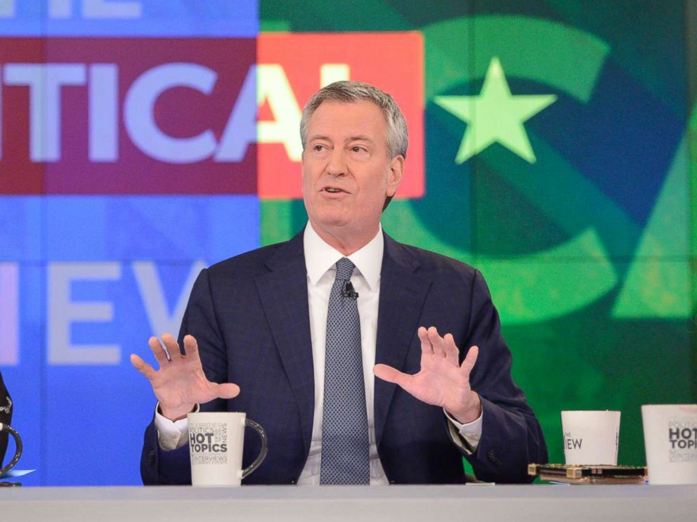 PHOTO: New York Mayor Bill de Blasio appears on ABCs The View, on Jan. 16, 2019.
