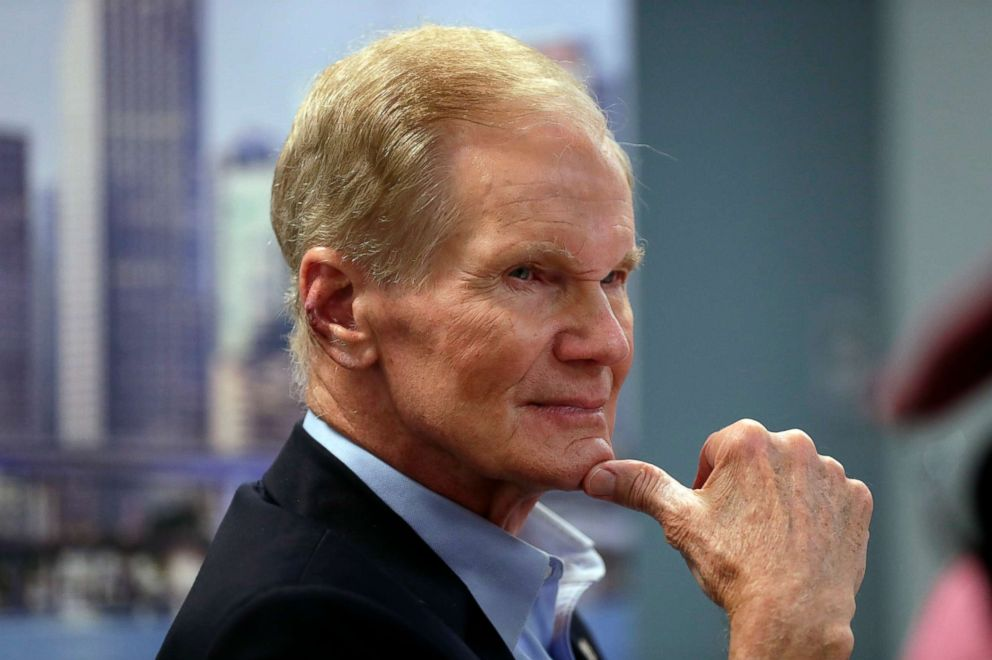 PHOTO: Sen. Bill Nelson listens during a roundtable discussion with education leaders from South Florida at the United Teachers of Dade headquarters in Miami, Aug. 6, 2018.