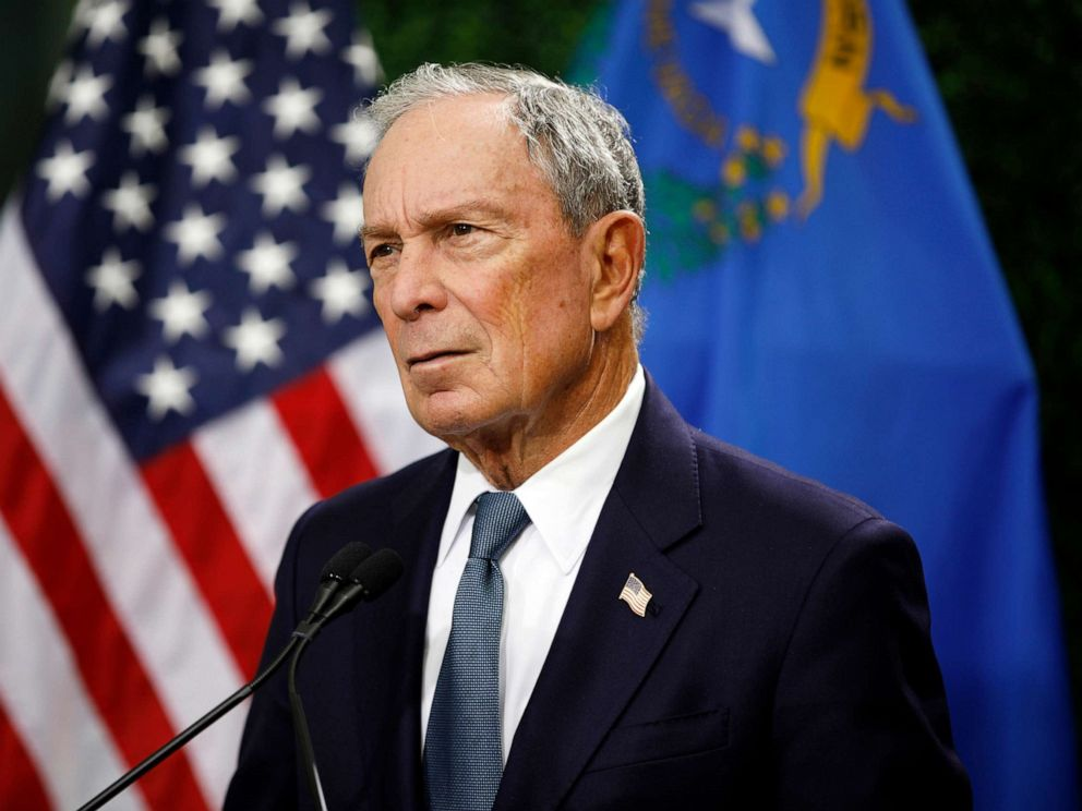 PHOTO: Former New York City Mayor Michael Bloomberg speaks at a news conference at a gun control advocacy event in Las Vegas, Feb. 26, 2019.