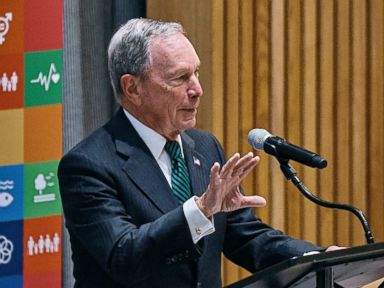 PHOTO: Businessman Michael Bloomberg speaks during a High Level Meeting on Non-communicable Diseases at U.N. headquarters, Sept. 27, 2018.