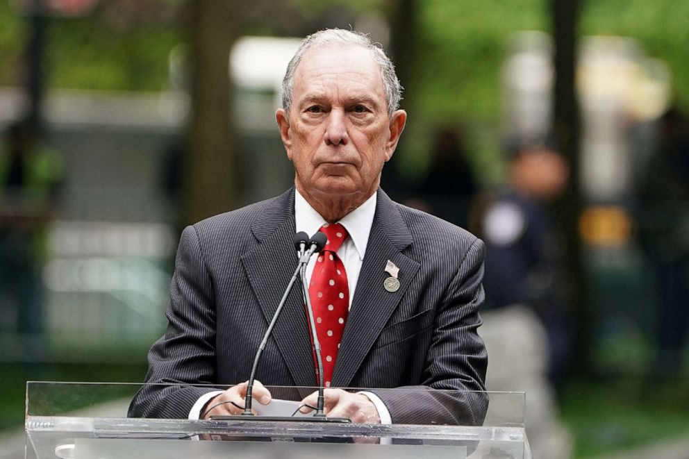 PHOTO: Former Mayor of New York Michael Bloomberg speaks in New York City, May 30, 2019.