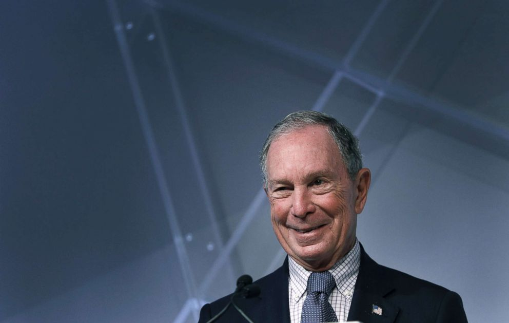 PHOTO: Michael Bloomberg, billionaire and former Mayor of New York City, speaks at CityLab Detroit, a global city summit, Oct. 29, 2018, in Detroit.