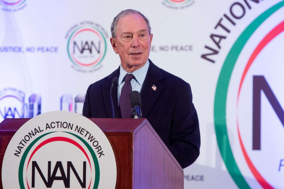 PHOTO: Michael Bloomberg speaks at the annual Martin Luther King, Jr. Day Breakfast hosted by Rev. Al Sharpton and National Action Network in Washington D.C., Jan. 21, 2019.
