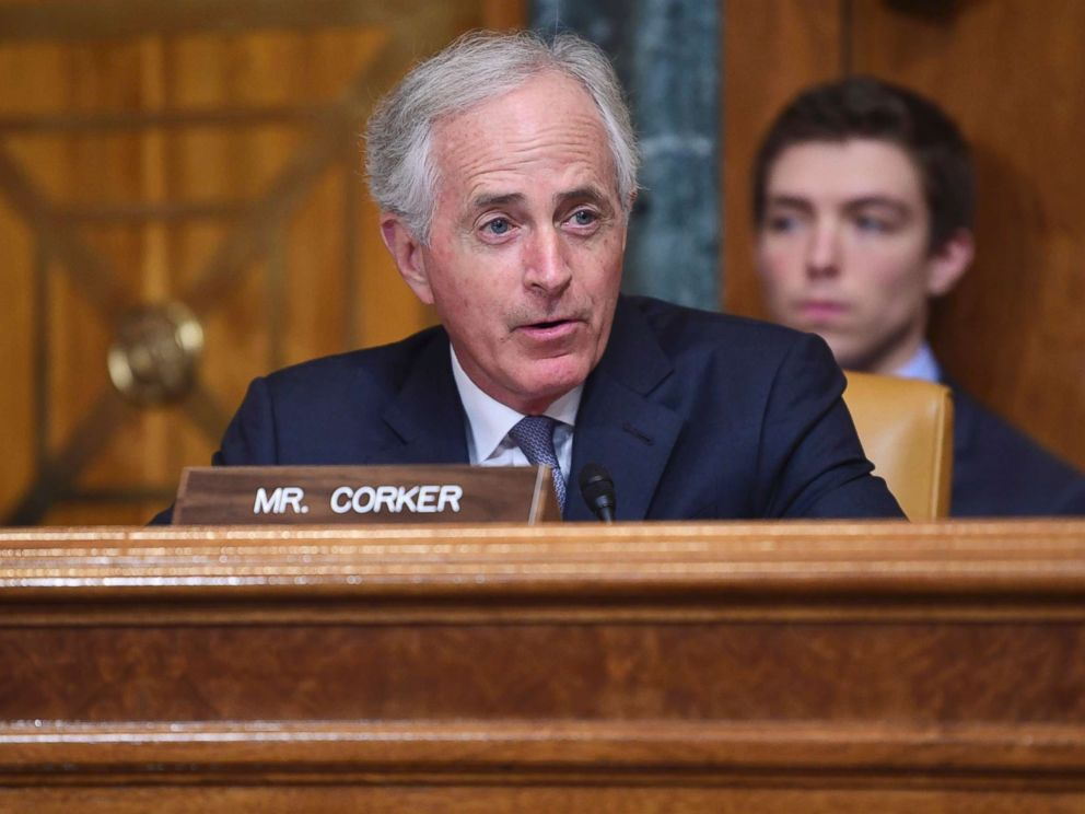 PHOTO: Sen. Bob Corker speaks on Capitol Hill in Washington, Feb. 13, 2018.