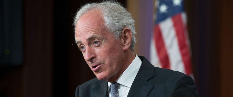 PHOTO: Bob Corker speaks during a news conference on Capitol Hill in Washington, Sept. 14, 2017.
