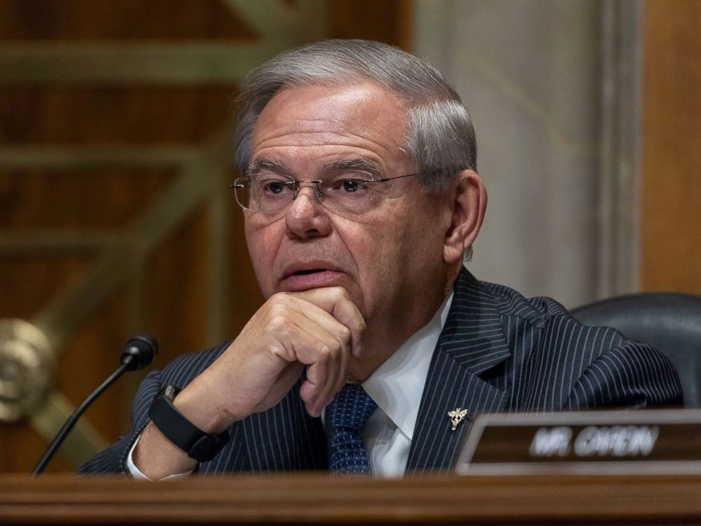 PHOTO: Senator Bob Menendez is pictured during a Senate Foreign Relations Committee confirmation hearing on Capitol Hill in Washington, April 12, 2018.