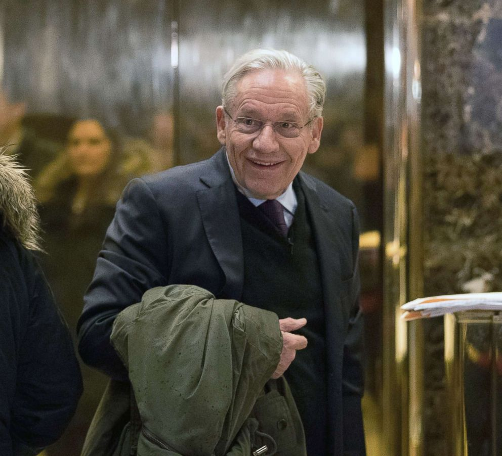 PHOTO: In this file photo, journalist Bob Woodward arrives at Trump Tower, Jan. 3, 2017, in New York City.