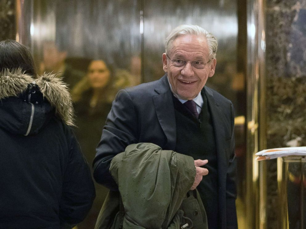 Bob Woodward arrives at Trump Tower, Jan. 3, 2017, in New York City.