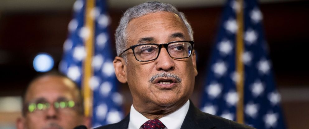 PHOTO: Rep. Bobby Scott speaks during the House Democrats news conference in the Capitol in Washington, July 24, 2018.