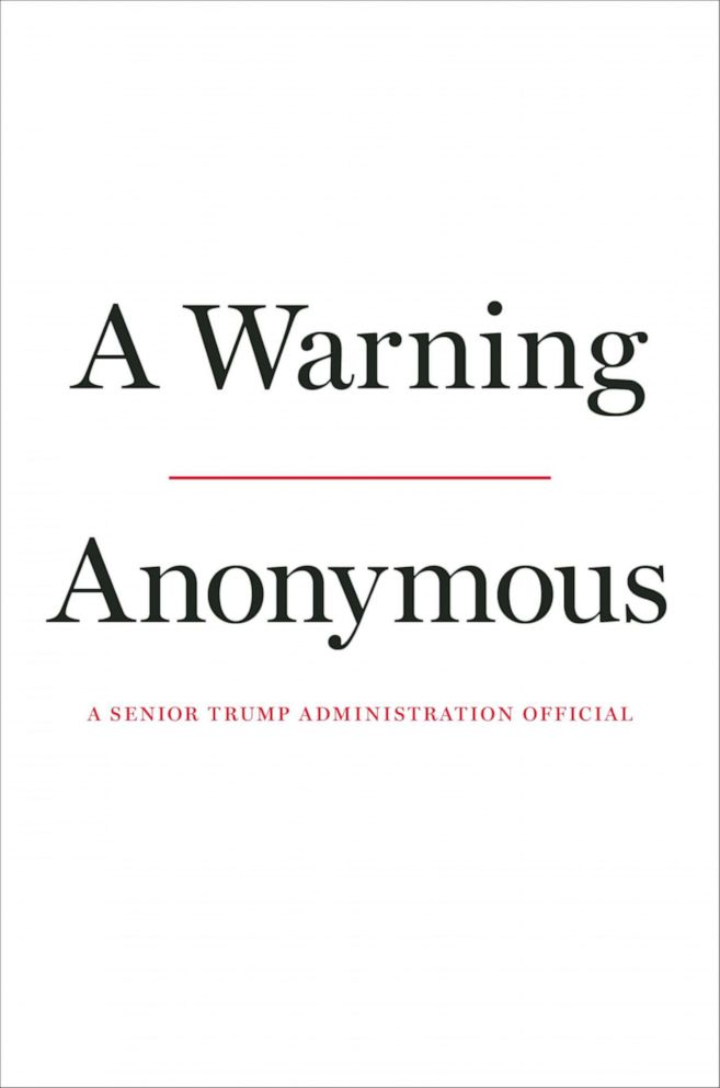PHOTO: The anonymous senior Trump administration official behind a 2018 New York Times op-ed that declared there was a resistance within the administration is writing a book available on Nov. 19, 2019.
