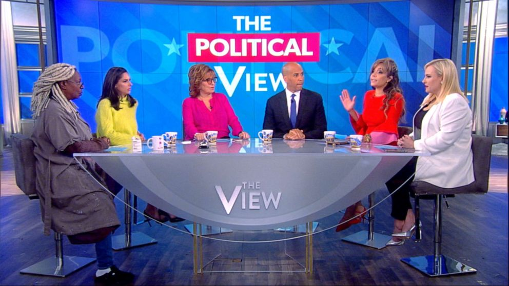 PHOTO: Sen. Corey Booker appears on The View, Oct. 30, 2019.