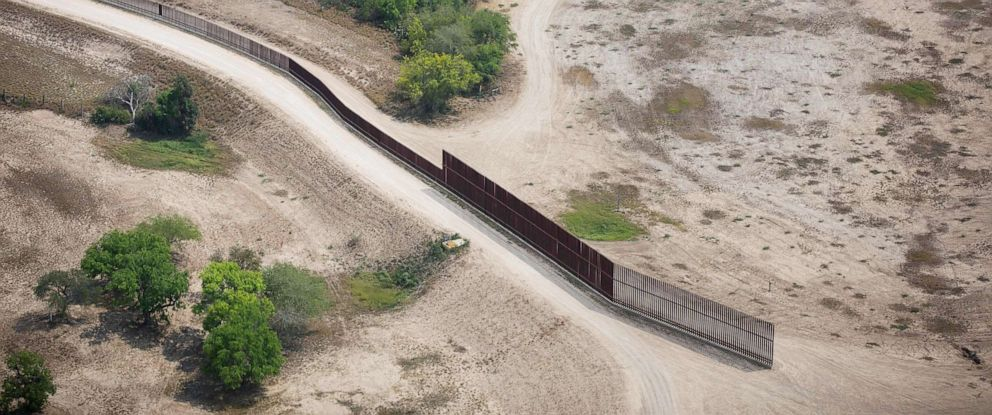 PHOTO: In this file photo taken on March 27, 2018, a section of the U.S.-Mexico border fence is pictured in the Rio Grande Valley Sector, near McAllen, Texas.