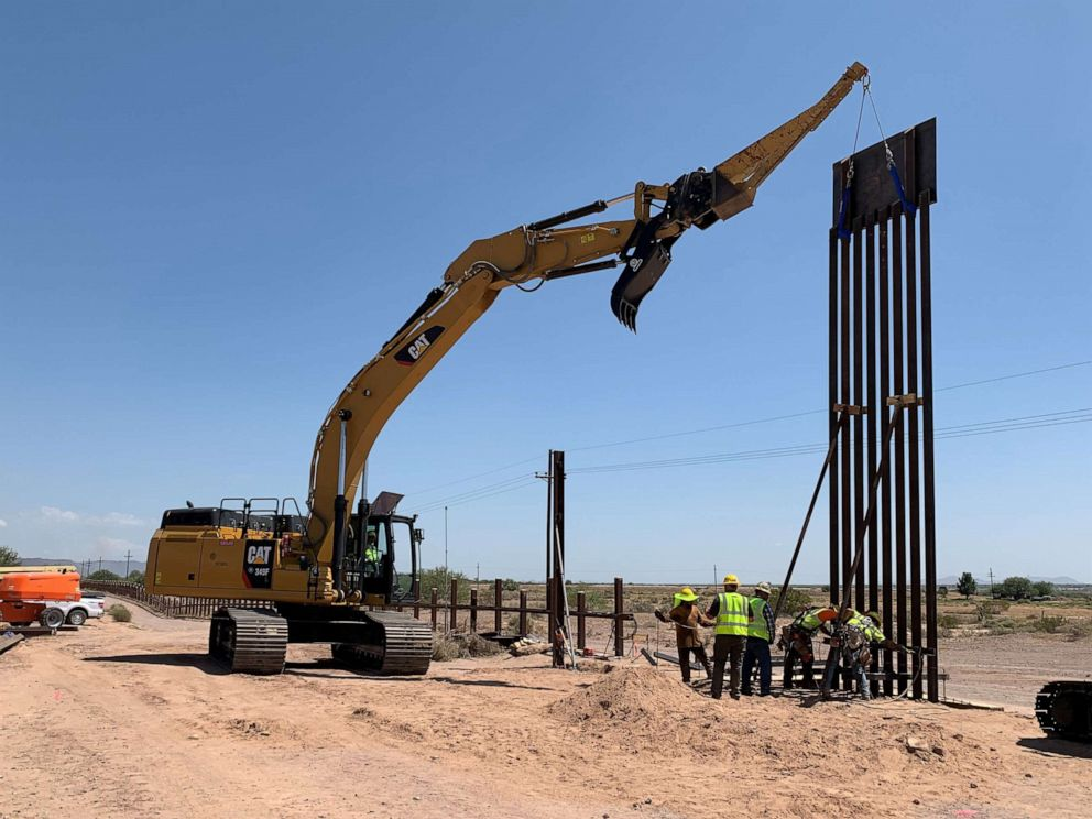 PHOTO: The first panel of three Tucson projects installed near Lukeville, Ariz.
