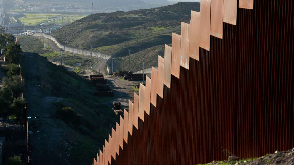 The U.S.-Mexico border wall along the border near Tijuana, Mexico, Jan. 7, 2019.