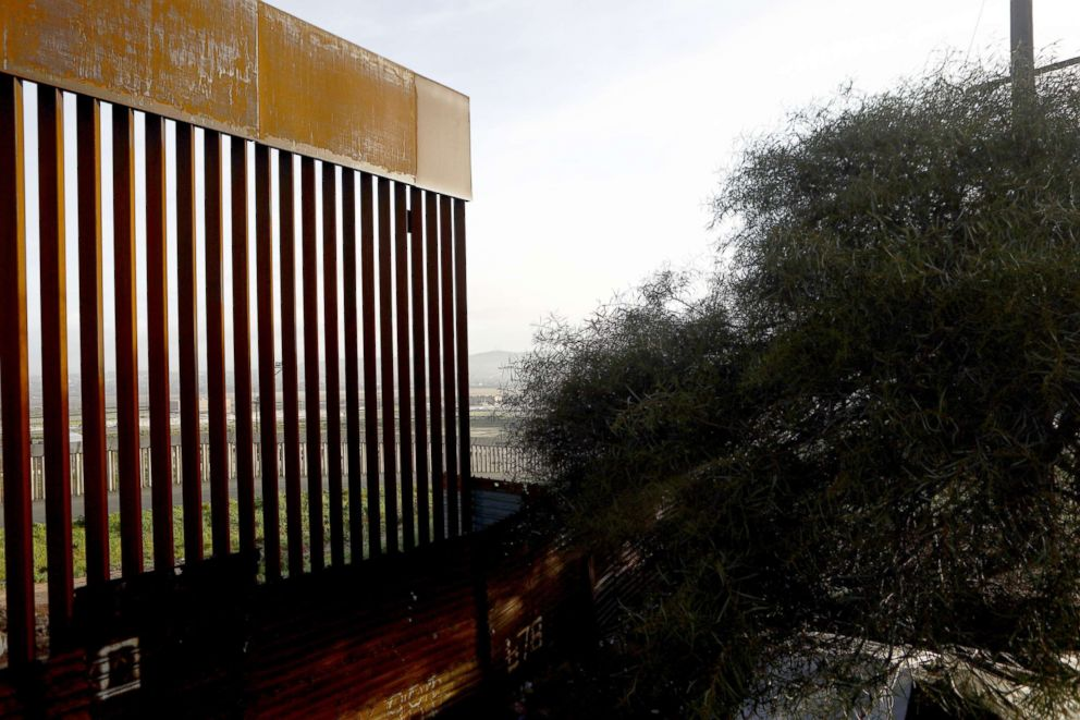 The U.S.-Mexico border barrier stands, Feb. 15, 2019, in Tijuana, Mexico.
