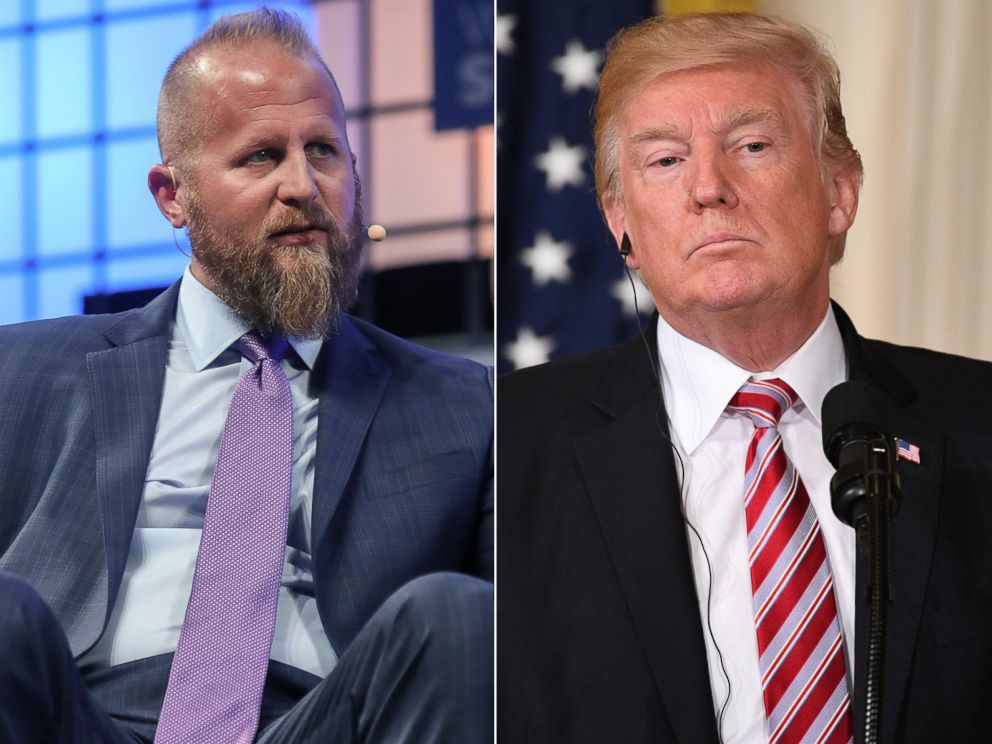 PHOTO: Pictured (L-R) are Brad Parscale in Lisbon, Portugal, Nov. 8, 2017 and President Donald Trump in Washington, D.C., Sept. 7, 2017.