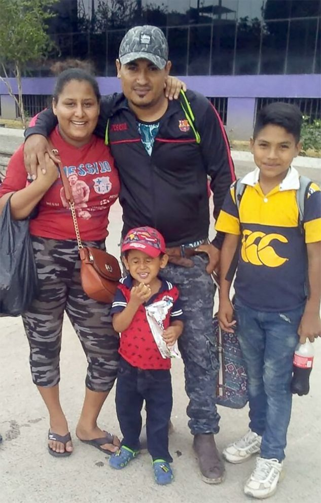 PHOTO: 12-year old Brayan Caceres,(right) is in a shelter in Maryland, far from any any relatives, after his family crossed the U.S. border in early May seen here in this undated family photo.