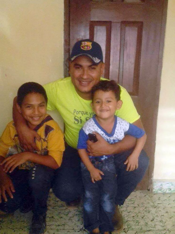 PHOTO: 12-year old Brayan Caceres is in a shelter in Maryland, far from any any relatives, after his family crossed the U.S. border in early May seen here on the left in this undated family photo.