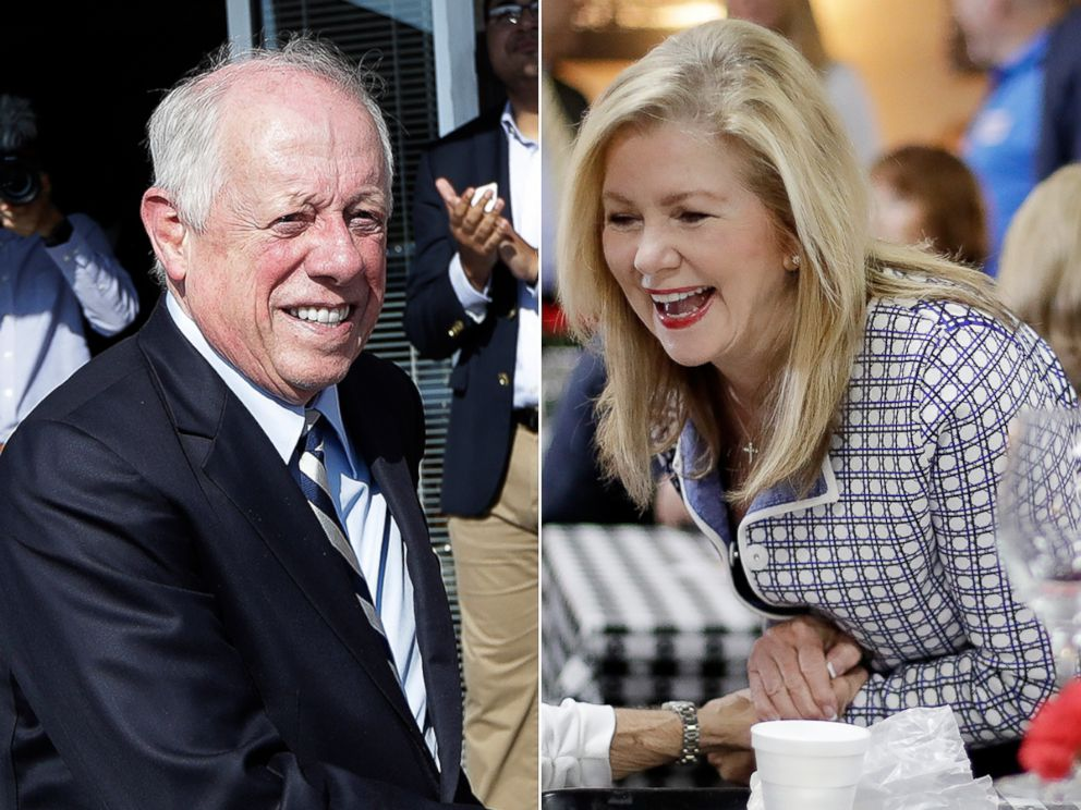 PHOTO: Former Gov. Phil Bredesen campaigns, Aug. 1, 2018, in Memphis, Tenn., in his bid for U.S. Senate.Republican U.S. Rep. Marsha Blackburn campaigns, Aug. 2, 2018, at a cafe in Brentwood, Tenn.