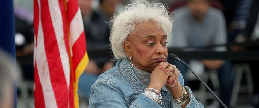 PHOTO: Broward County Supervisor of Elections Brenda Snipes explains to the canvassing board the discrepancy in vote counts during the hand count at the Broward County Supervisor of Elections office in Lauderhill, Fla., Nov. 17, 2018.