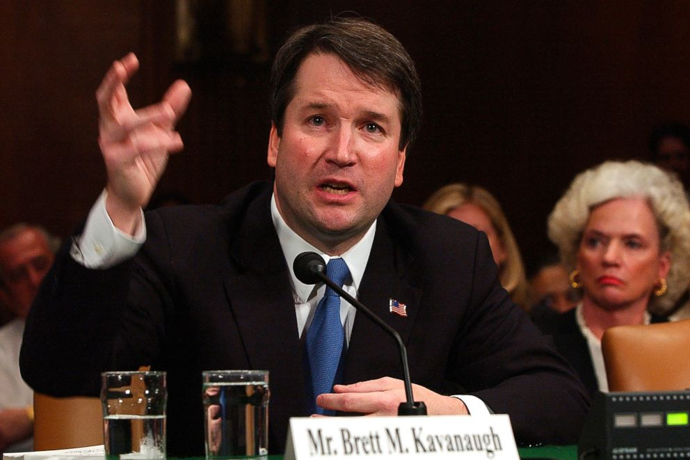 PHOTO: Brett Kavanaugh appears before the Senate Judiciary Committee on Capitol Hill in Washington, April 26, 2004.