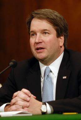 PHOTO: Brett Kavanaugh testifies at a Senate Judiciary Committee hearing on his nomination to be U. S. Circuit Judge for the Ninth Circuit, May 9, 2006, in Washington.