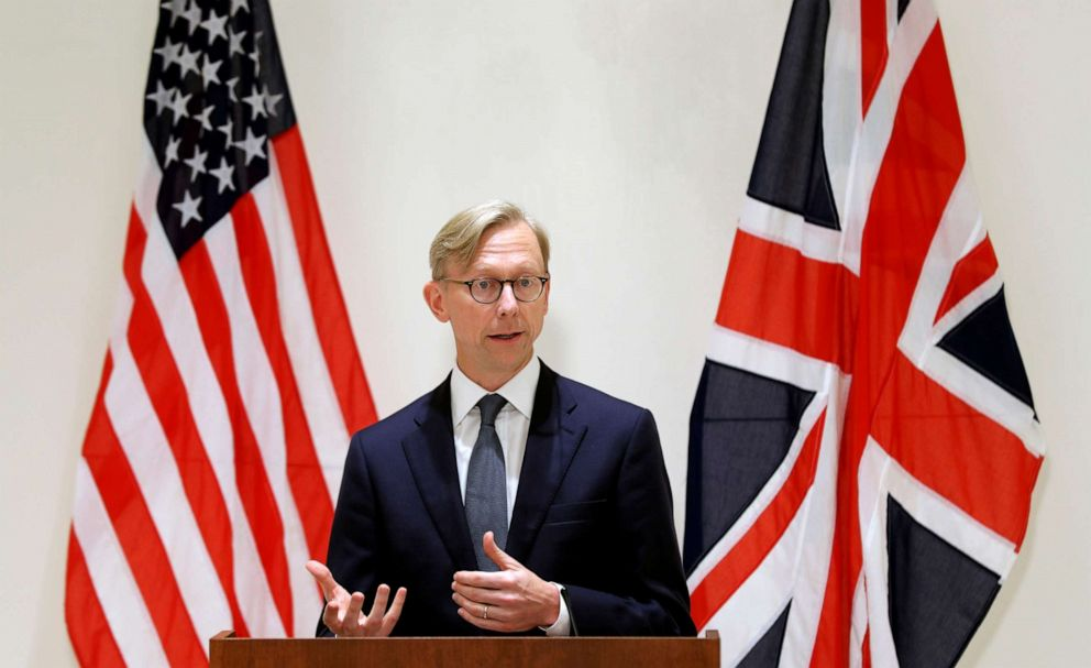 PHOTO: Brian Hook, U.S. Special Representative for Iran, attends a news conference in London, June 28, 2019.