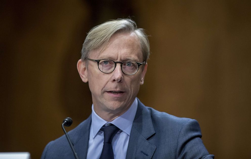 PHOTO: Brian Hook, State department Special Representative for Iran, testifies during the Senate Foreign Relations Committee Hearing On US-Iran Policy, Oct. 16, 2019, in Washington, DC.