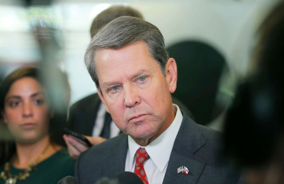 PHOTO: Georgia Secretary of State Brian Kemp rolled out a new policy aimed at veterans at a press conference at his Atlanta headquarters, Aug. 29, 2018.