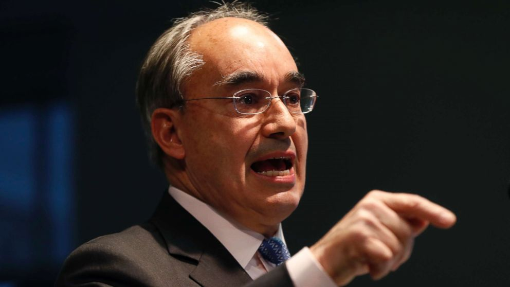 Rep. Bruce Poliquin speaks at a news conference, Tuesday, Nov. 13, 2018, in Augusta, Maine.