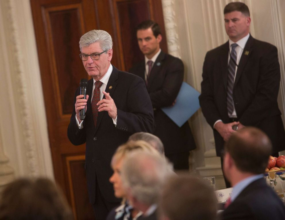 PHOTO: Mississippi Governor Phil Bryant speaks during the 2018 White House Business Session with Governors, Feb. 26, 2018, at The White House.