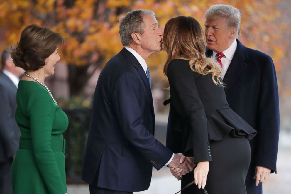 President Trump And First Lady Offer Private Condolences To Bush